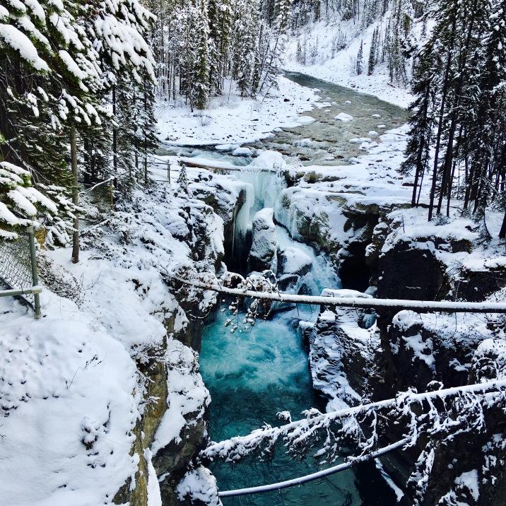 Sunwaptta Falls, Jasper, Alberta