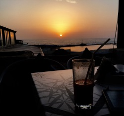 Sunset at Tropicana Beach Club, Casablanca