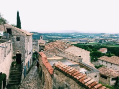 Views of Provence from the SCAD Lacoste library on a rainy day