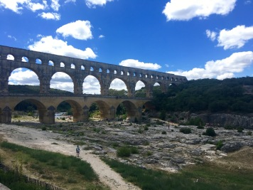 Pont Du Gard - UNESCO World Heritage Site - ancient Roman aqueduct