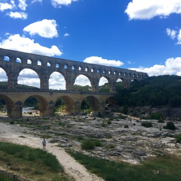 Pont Du Gard - UNESCO World Heritage Site - ancient Roman aqueduct