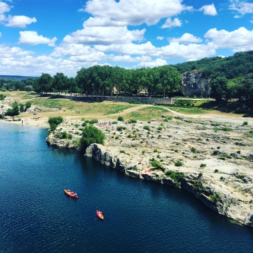 Cliff-jumping at Pont Du Gard