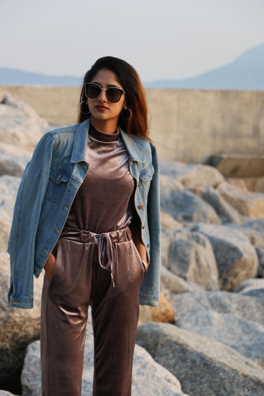 fashion blogger, fashion marketing student, hong kong street style, velvet and denim style, velvet styling, fashion trends