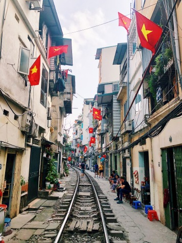 hanoi, vietnam, train street, solo travel