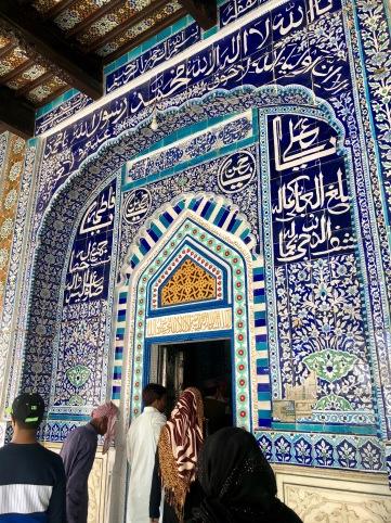 Entrance to Shah Abdul Latif Bhittai's tomb